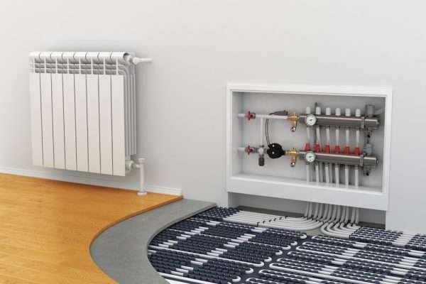 Allier plancher chauffant et radiateurs avec une chaudière électrique